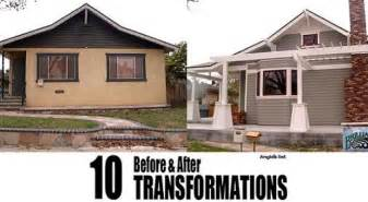 before and after home exterior renovations traditional