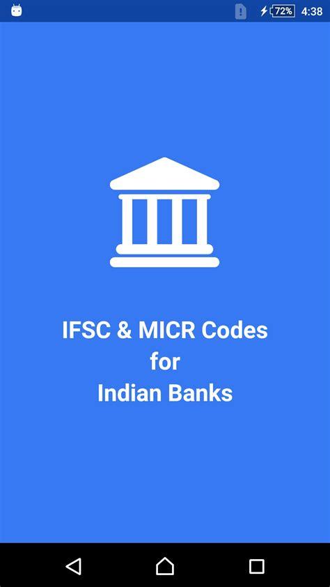 bank ifs indian banks info ifsc micr