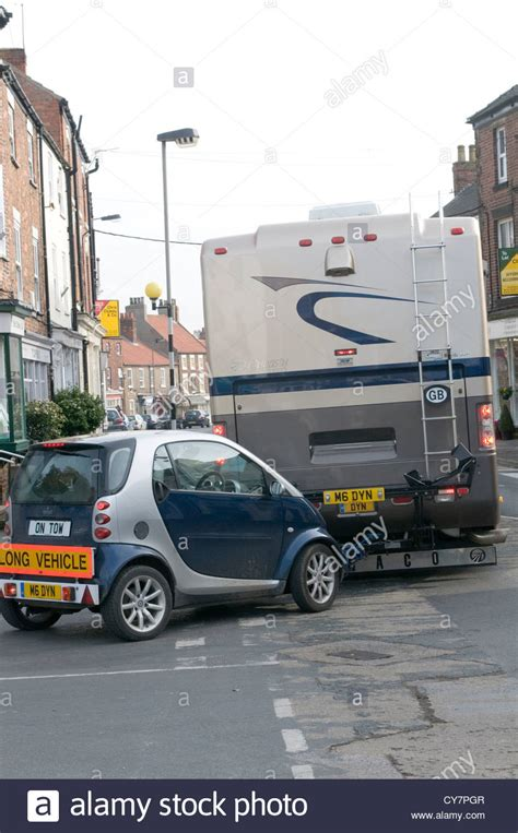 towing smart car smart car on tow an rv recreational vehicle