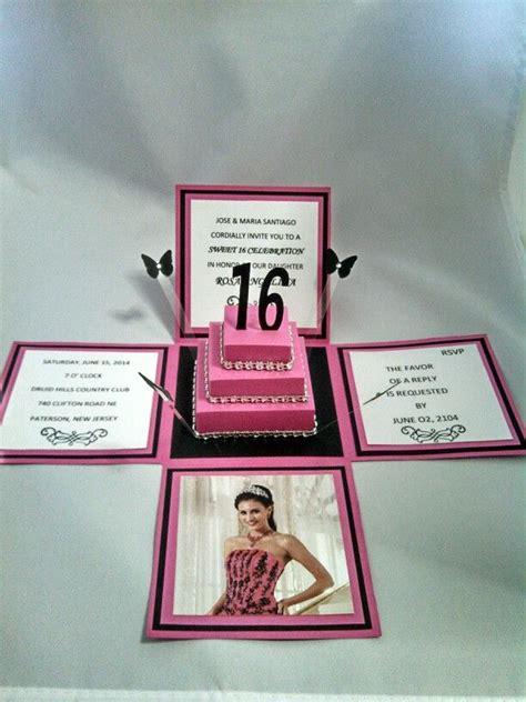 Handmade Sweet 16 Invitations - handmade sweet 16 invitation sweet 16 invitations