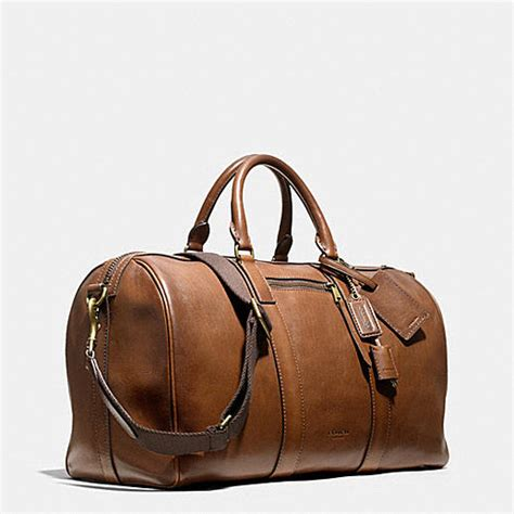 Coach Bleeker Leather Large Duffle by Coach Mens Travel Bleecker Duffle In Leather