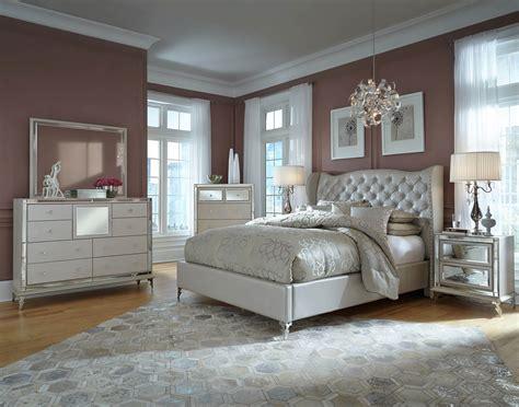 aico hollywood loft frost upholstered platform bedroom set qnbed