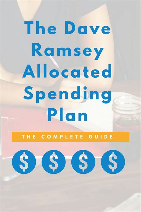 dave ramsey allocated spending plan guide forms