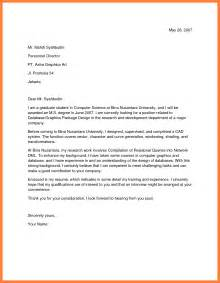 How To Draft A Cover Letter For Application by 9 Format Of An Application Letter For A Bussines
