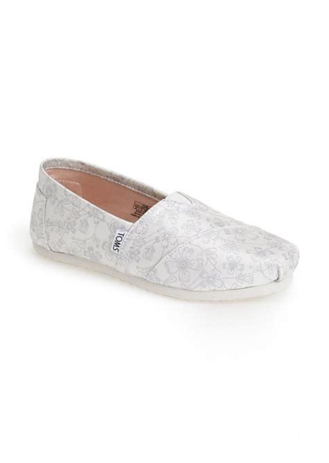toms shoes toms classic floral jacquard wedding slip