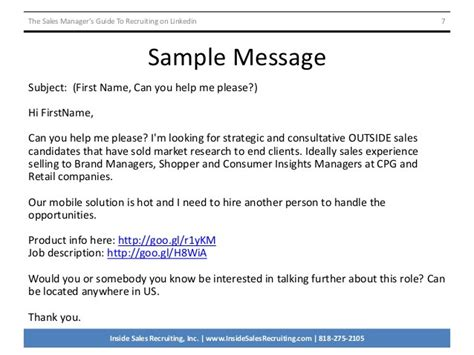 How Respond A Recruiter Email Sle The Sales Managers Response To Recruiter Email Template