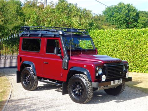 used land rover defender used red land rover defender for sale essex