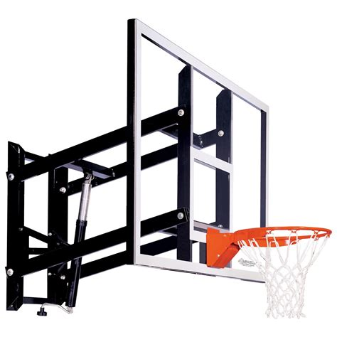 Adjustable Basketball Hoop Garage Mount by Goalsetter Garage Wall Mount Basketball Goal System At