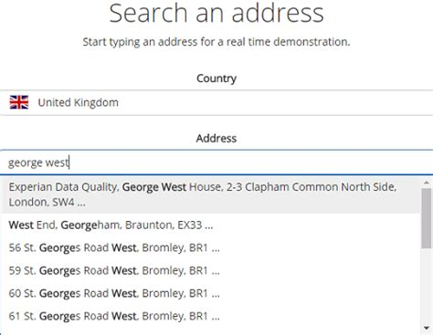 Experian Address Lookup Global Intuitive Address Search Experian