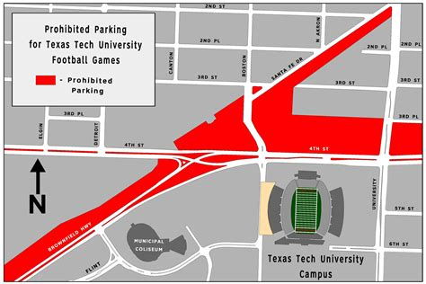 texas tech parking map athletics