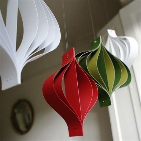 Easy Paper Decorations To Make - diy 2015 christmas day paper decorations crafts you