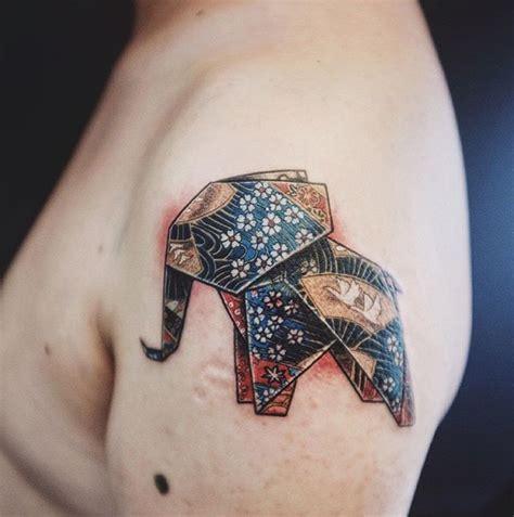 origami elephant tattoo origami elephant by mulie addlecoat origami