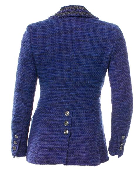 riding jackets for sale beautiful chanel black and blue tweed riding jacket blazer