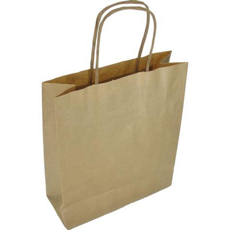 Tas Transparant tas gestreept kraftpapier gedraaid papieren koord 18x8x22cm draagtas bruin 270250