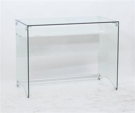 scrivania trasparente scrivania dal design pulito in vetro trasparente idfdesign