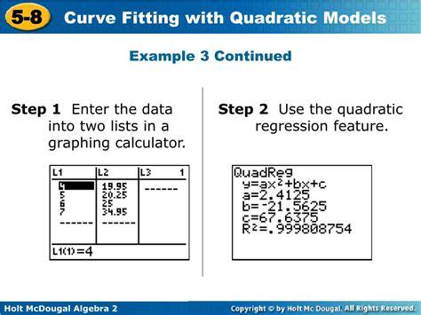 calculator quadratic regression ppt 5 8 powerpoint presentation id 450301
