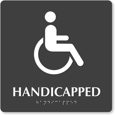 handicap bathroom sign handicapped bathroom sign with braille 9in x 9in sku