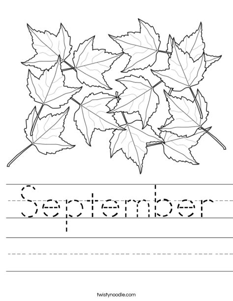 september coloring pages preschool september worksheet twisty noodle