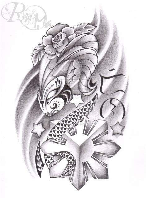 filipino flower tattoo designs 16 designs