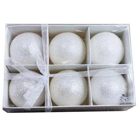 wholesale frosted snowball christmas ball ornaments buy