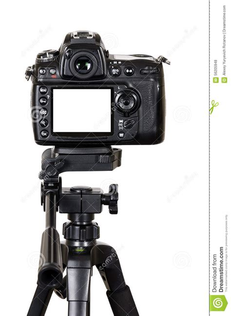 camera stand wallpaper professional digital camera with blank screen on a tripod