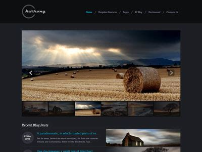 joomla photography template free kerrong joomla template for showcase photos photography