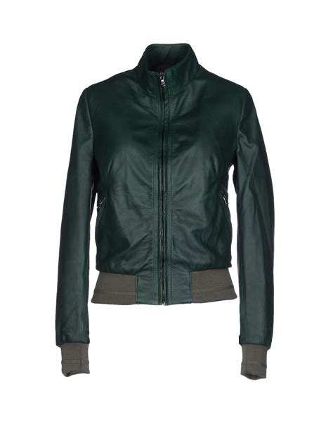 7 Luxe Leather Shirts by Lyst Vintage De Luxe Jacket In Green