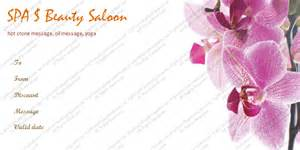 Spa Day Gift Certificate Template by Spa Gift Certificate Templates
