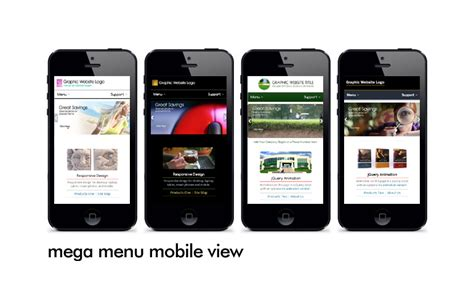 responsive design menu mobile allwebco paypal shopping cart downloadable website