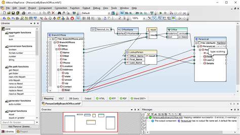 asignacion conversion  integracion de datos  mapforce
