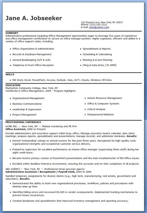 Resume Sles For Office Assistant office assistant resume sles 28 images sales and