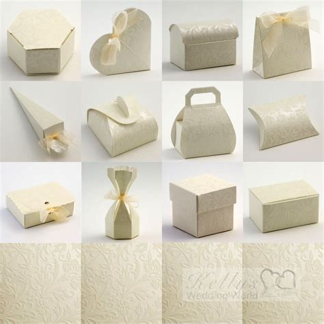 Wedding Favour Boxes by Diamante Ivory Wedding Favour Boxes Ebay