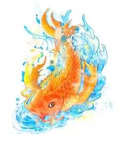 koi fish colors koi fish water color by temptingtradgedy on deviantart