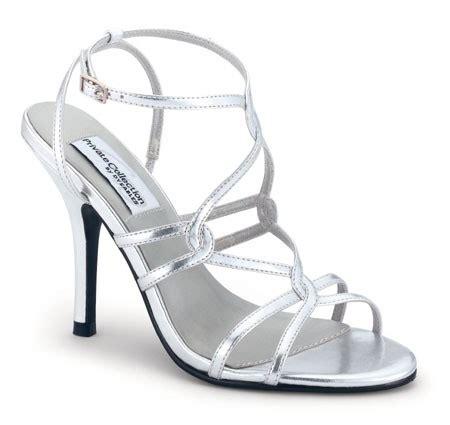 strappy silver high heel wedding shoes sang maestro
