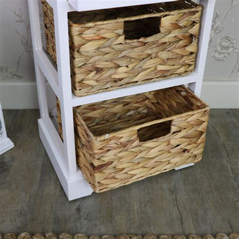 Drawer Basket Storage by White Wood Wicker 3 Drawer Basket Storage Unit Salford