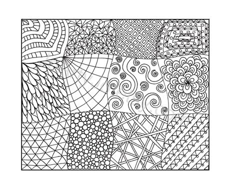 Zen Coloring Pages Pdf | zendoodle coloring page printable pdf zentangle inspired