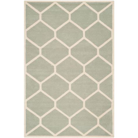 chatham rugs safavieh chatham grey ivory 6 ft x 9 ft area rug cht760e 6 the home depot