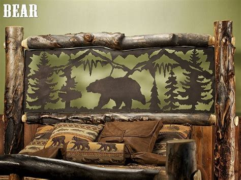 aspen estate light log bed  metal insert jhes log