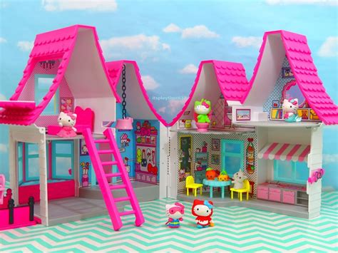 doll house review hello kitty dollhouse new toys review itsplaytime612 youtube