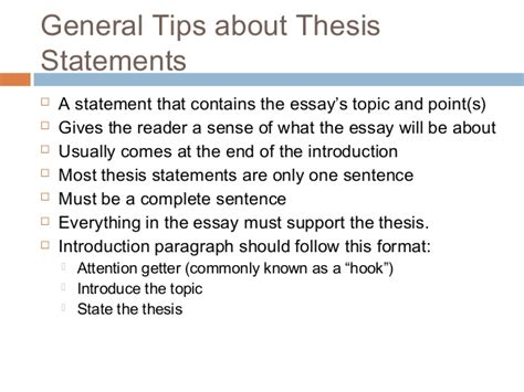 Writing A Thesis For An Essay by Thesis Statement Examples Alisen Berde