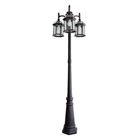 lantern post light outdoor portfolio outdoor l post pole mount light lighting