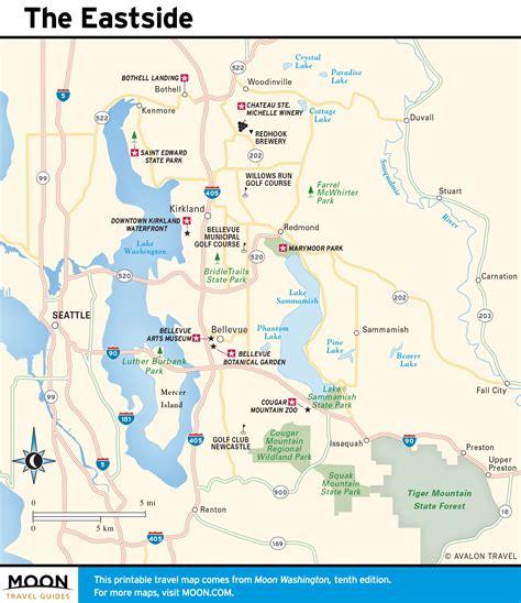 seattle eastside map printable travel maps of washington state moon travel guides