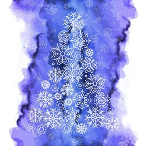apreciamos un rbol de navidad hecho de nieve en su inferior con fondo de acuarela de 225 rbol de navidad hecho de copos de