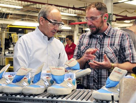 Factory Manager by At Maine S New Balance Plant Poliquin Says He S Undecided On Trade Bill The Portland Press