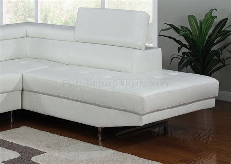 white bonded leather sofa 4003 sectional sofa in white bonded leather by home