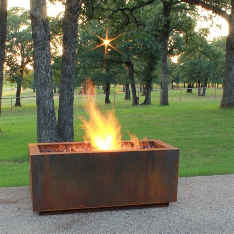 modern outdoor firepit pits great for fall and winter modern pits by authenteak outdoor living