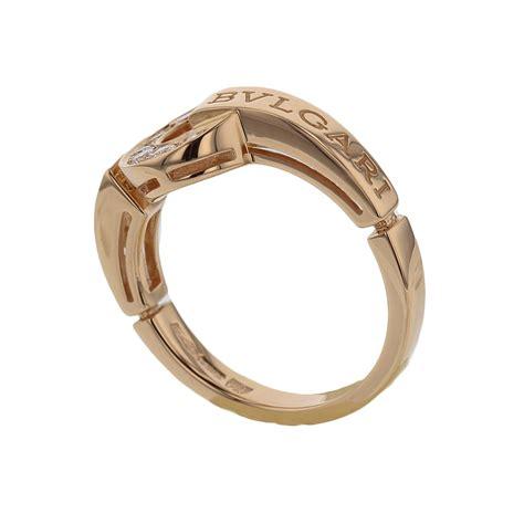 bvlgari bvlgari ring ik pink gold with pave diamonds sale uk bulgari jewelry bvlgari bvlgari ring 18kpg diamonds size