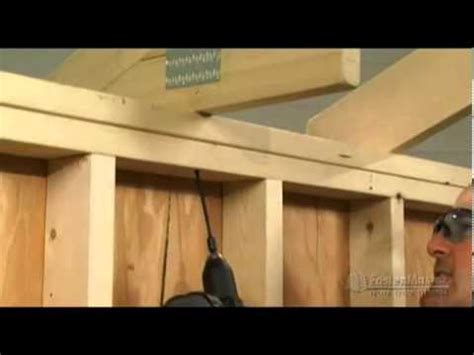 attach frame to wall without nails fastenmaster timberlok attaching rafter or truss to top