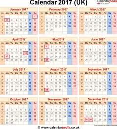 Calendar Printable 2017 Uk 2017 Calendar Uk Printable