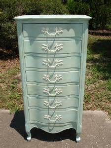 Shabby Chic Blue Dresser by Provincial Chest Dresser In Pale Blue